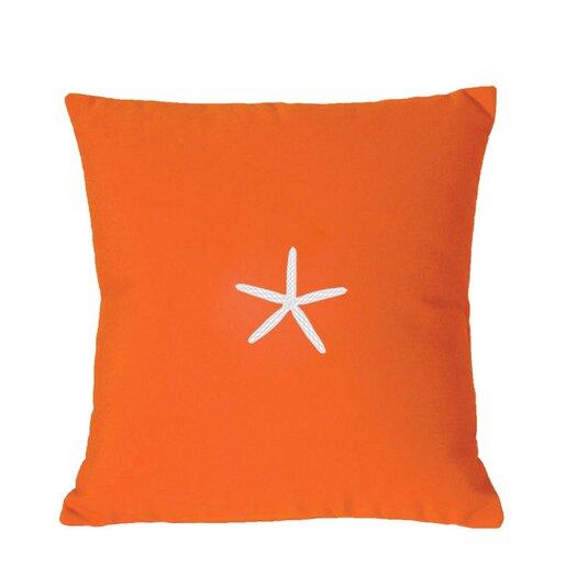 Nantucket Bound Sunbrella Lumbar Pillow With Embroidered Starfish