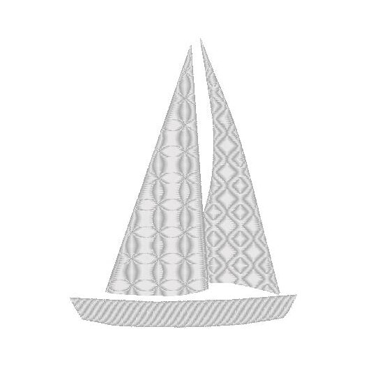 Nantucket Bound Sailboat Embroidered Sunbrella Fabric Indoor / Outdoor Pillow