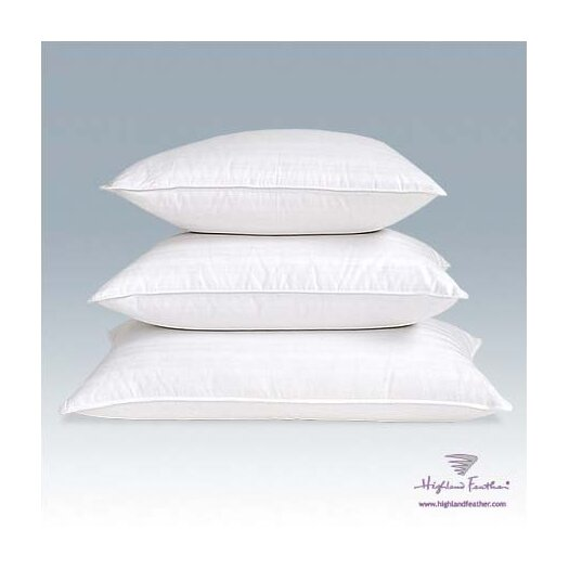 Highland Feather Damask Goose Down Pillow - Level II 320T.C.