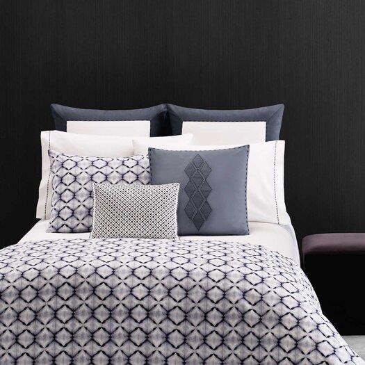 "Vera Wang Shibori Diamond 15"" x 20"" Sashiko Decorative Down Pillow"