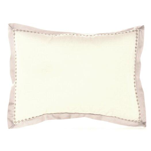 """Vera Wang Bamboo Leaves 15"""" x 20"""" Eyelet Edge Decorative Down Pillow"""
