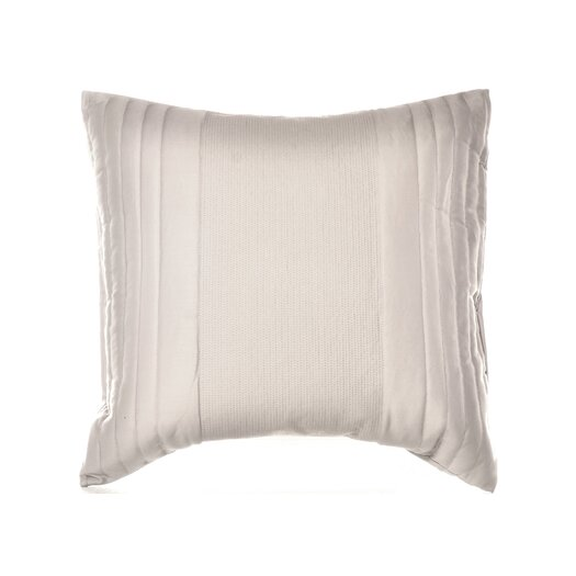 "Vera Wang Bamboo Leaves 20"" x 20"" Quilted Decorative Down Pillow"