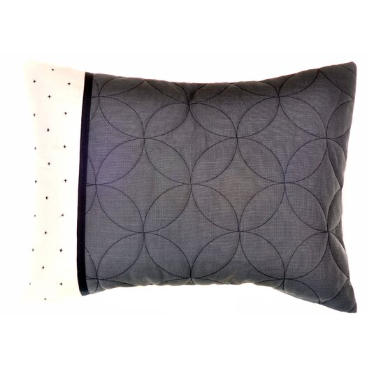 "Vera Wang Shibori Diamond 15"" x 20"" Sashiko Decorative Down Pillow"