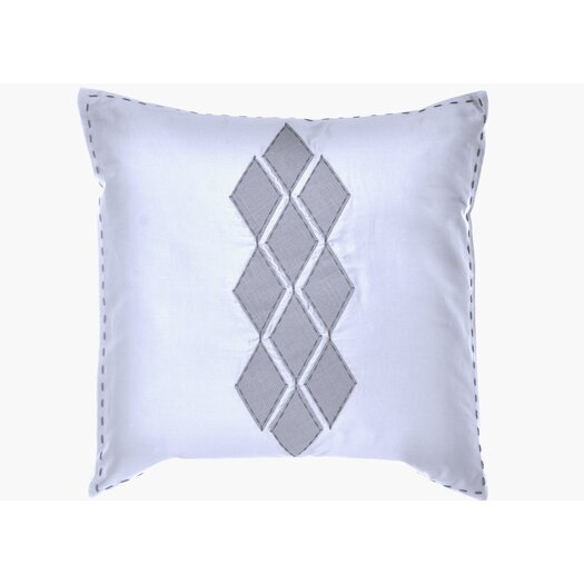 "Vera Wang Shibori Diamond 20"" x 20"" Applique Diamond Decorative Down Pillow"