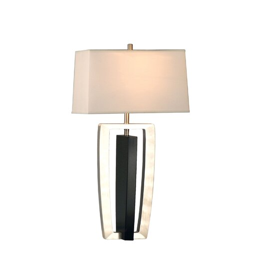"""Nova Intersect 30"""" H Table Lamp with Rectangle Shade"""