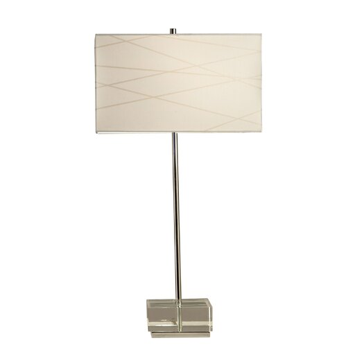 "Nova Criss Cross 28"" H Table Lamp with Drum Shade"