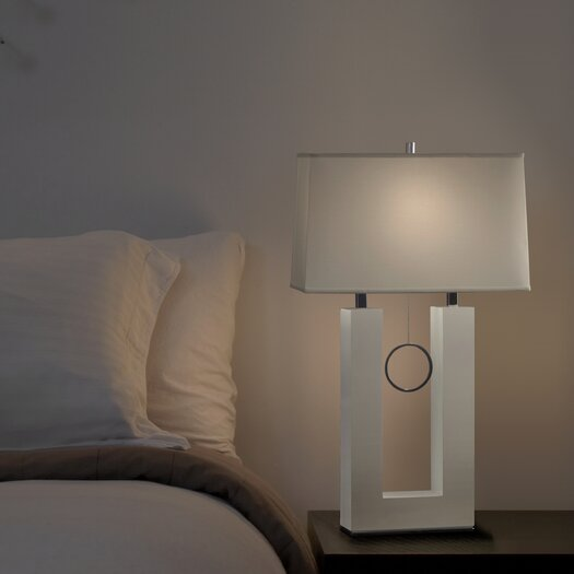 "Nova Earring Reclining 31"" H Table Lamp with Rectangular Shade"