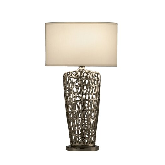 "Nova Bird's Nest Heart 30"" H Table Lamp with Rectangular Shade"