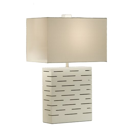 "Nova Rift 24"" H Table Lamp with Rectangular Shade"