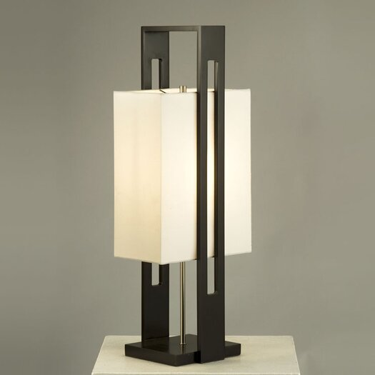 "Nova Tumi 30"" H Table Lamp with Rectangular Shade"