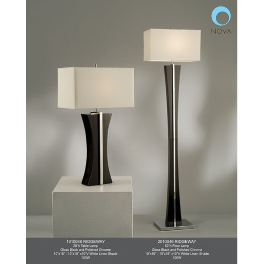 "Nova Ridgeway 28"" H Table Lamp with Rectangular Shade"