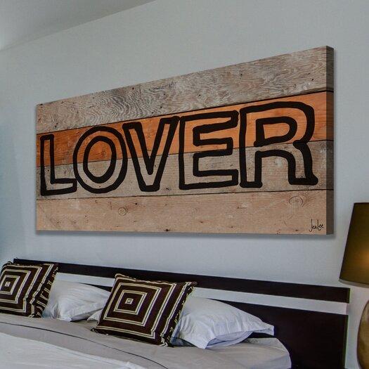 Jen Lee Art Lover Marker Reclaimed Wood - Douglas Fir Art