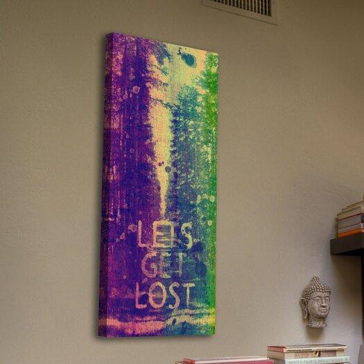 Jen Lee Art Lets Get Lost Graphic Art on Canvas