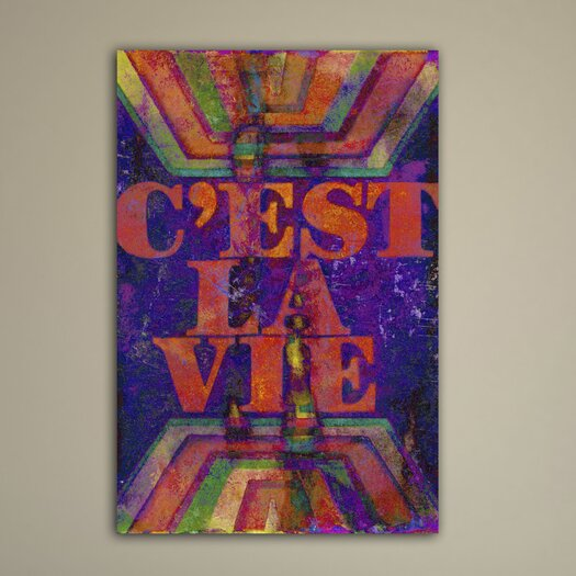 Jen Lee Art C'est La Vie Textual Art on Canvas