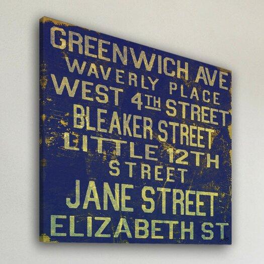 Jen Lee Art Jane Street Textual Art on Canvas