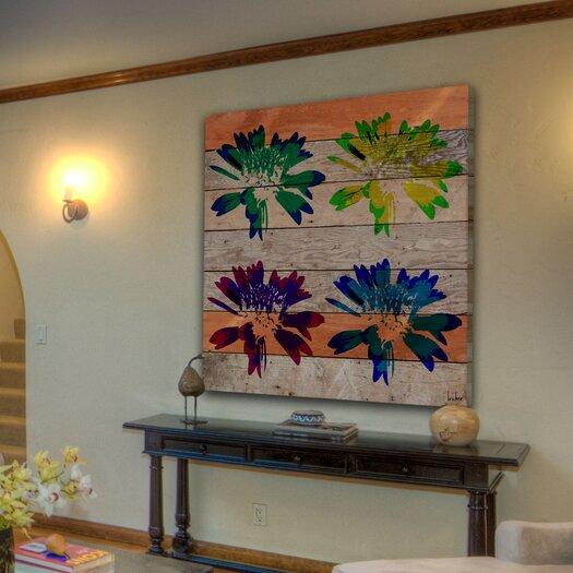 Jen Lee Art Floral Burst Graphic Art Plaque