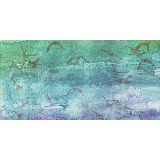 Jen Lee Art Clouds Up Graphic Art on Canvas