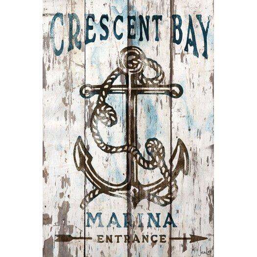 Crescent Bay Barn Siding Graphic Art Plaque