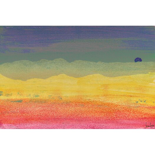 Desert Sun Graphic Art on Canvas