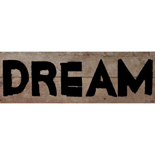 Dream Textual Art Plaque