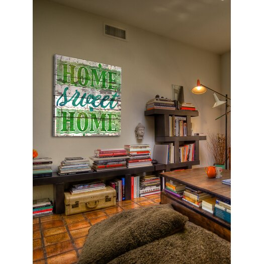 Jen Lee Art Home Sweet Home Barn Siding Textual Art Plaque