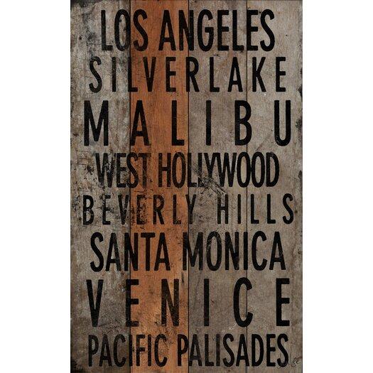 Los Angeles 2 Textual Art Plaque
