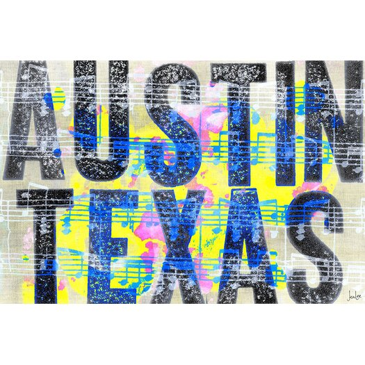 Jen Lee Art Austin Texas Textual Art on Canvas