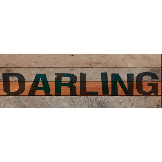 Jen Lee Art Darling Textual Art Plaque