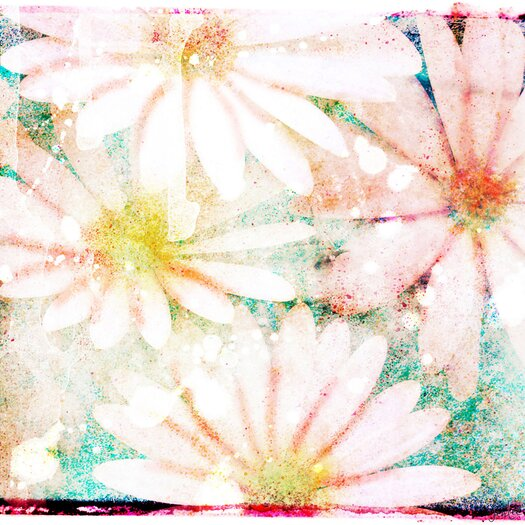Daisies Graphic Art on Canvas