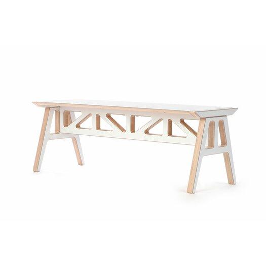 Context Furniture Truss A Frame Birch Bench