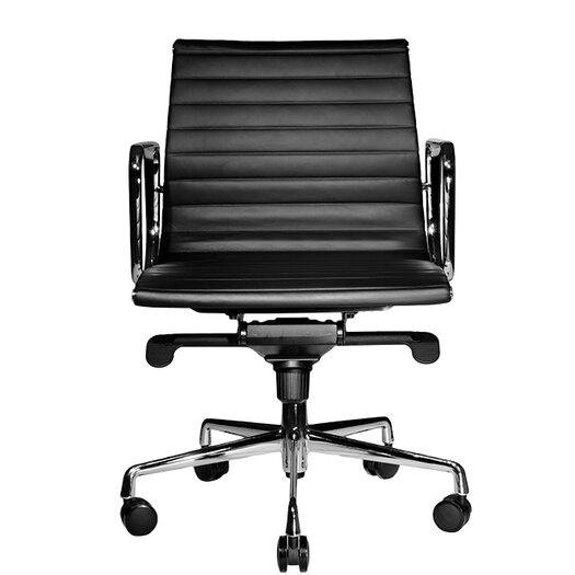 Wobi Office Reed Low-Back Leather Chair