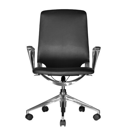Wobi Office Marco Mid-Back Leather Chair with Adjustable Armrest