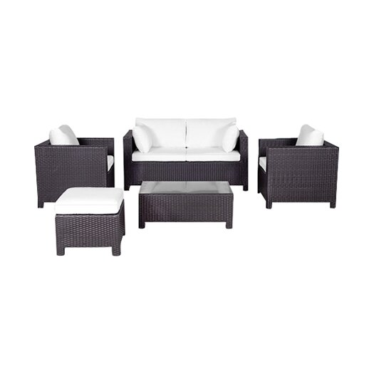 Beliani Milano 5 Piece Deep Seating Group with Cushion