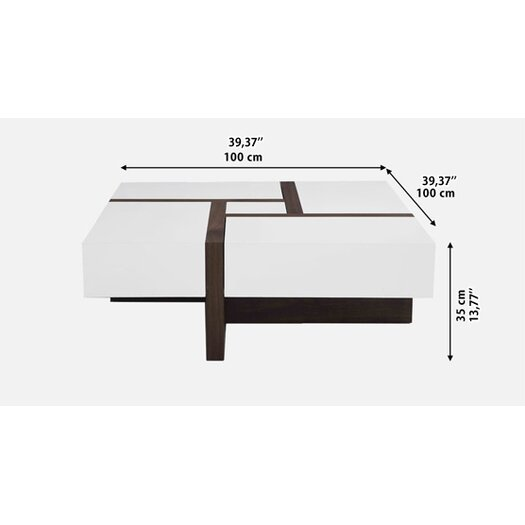 Beliani Evora Modern Coffee Table with 4 Drawers