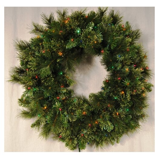 Queens of Christmas Pre-Lit Incandescent Blended Pine Wreath