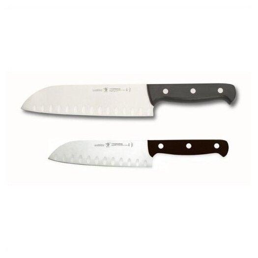 Zwilling JA Henckels International Fine Edge Pro 2 Piece Hollow Edge Santoku Knife Set