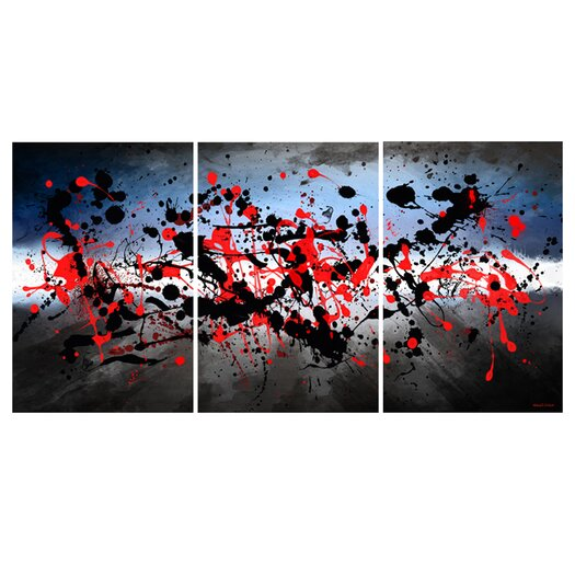 "Maxwell Dickson ""Beautiful Mind"" 3 Piece Painting Prints on Canvas Set"