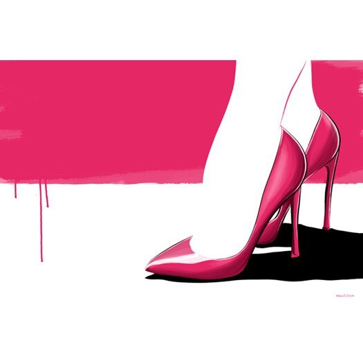 "Maxwell Dickson ""Pink Stilettos"" Graphic Art on Canvas"
