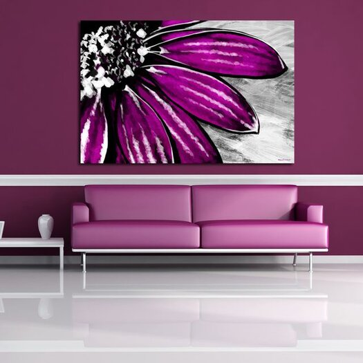 Maxwell Dickson Purple Petals Painting Print on Canvas