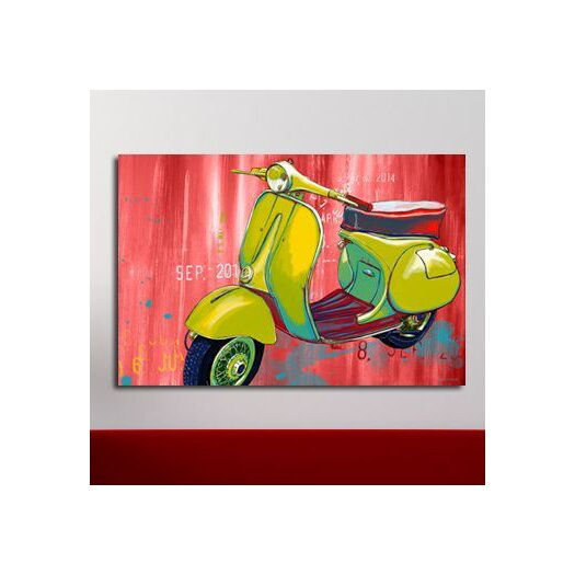 Maxwell Dickson Vintage Scooter Graphic Art on Canvas