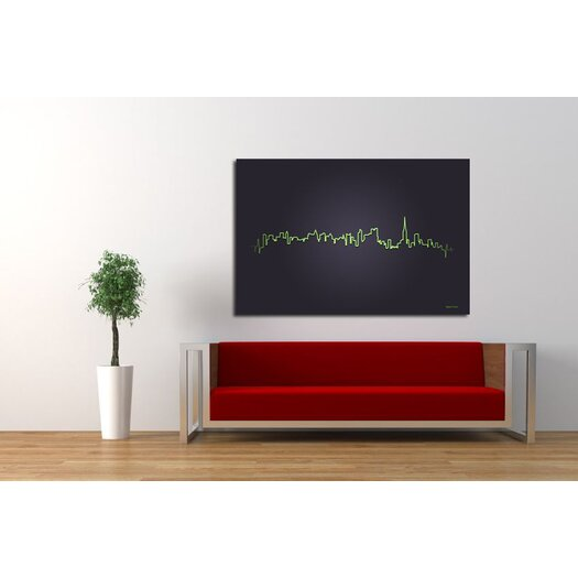 """Maxwell Dickson """"Pulse of the City"""" Graphic Art on Canvas"""