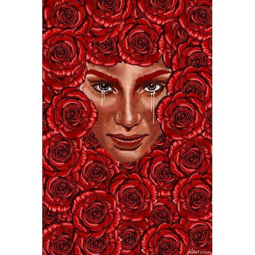 "Maxwell Dickson ""Bed of Roses"" Graphic Art on Canvas"