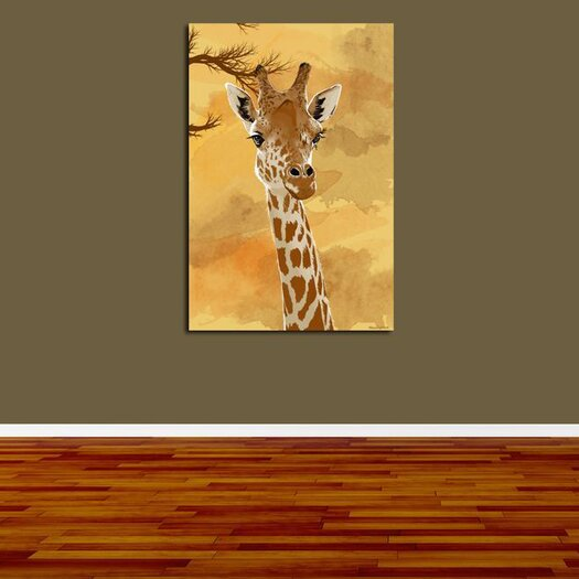 Maxwell Dickson Giraffe Painting Print on Canvas