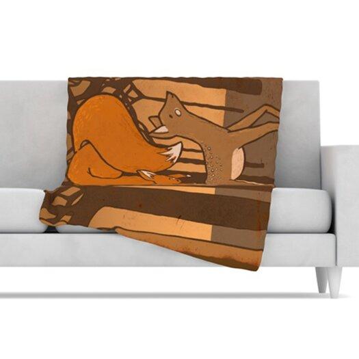 KESS InHouse Friends Microfiber Fleece Throw Blanket
