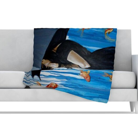 KESS InHouse Sink or Swim Fleece Throw Blanket