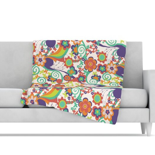 KESS InHouse Printemps Fleece Throw Blanket