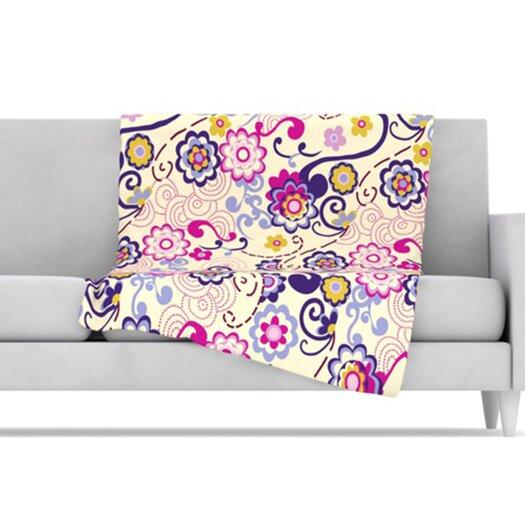 KESS InHouse Arabesque Fleece Throw Blanket