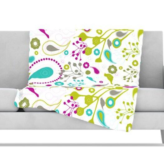 KESS InHouse Bird Fantasy Fleece Throw Blanket