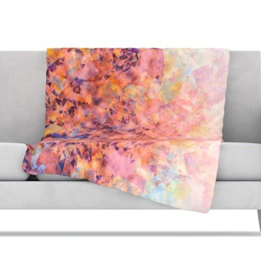 KESS InHouse Blushed Geometric Fleece Throw Blanket