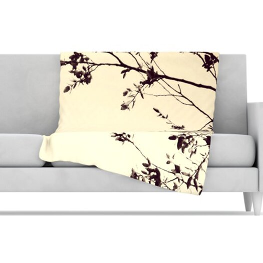 KESS InHouse Silhouette Fleece Throw Blanket